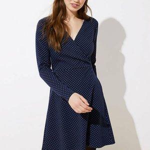 Loft Geo Jacquard Knit Wrap Dress